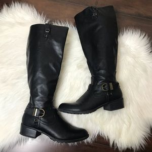 Rampage | Black Knee High Riding Boots (9)